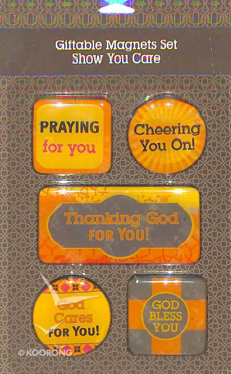 Magnetic Set of 5 Magnets: God Cares For You Novelty