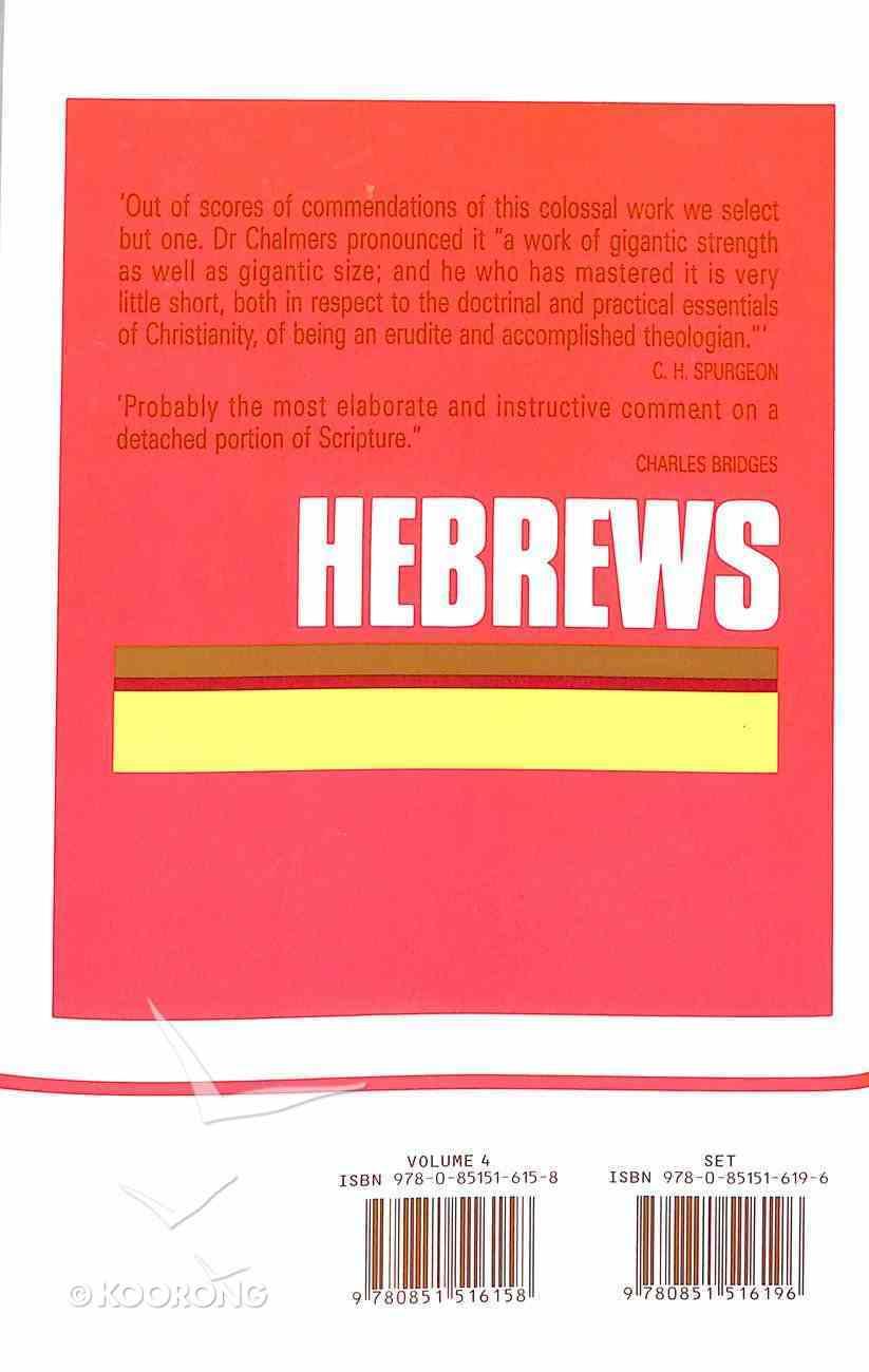 Hebrews (Vol 4) Hardback