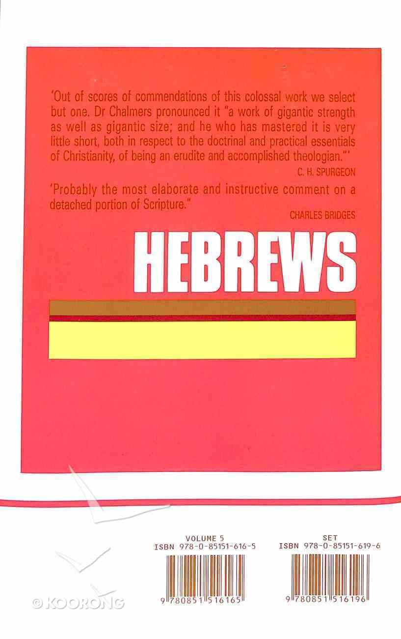 Hebrews (Vol 5) Hardback
