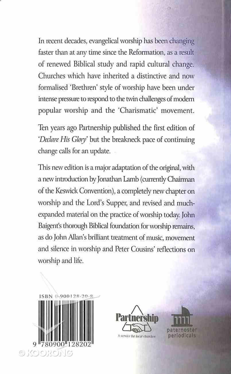 Declare His Glory Paperback