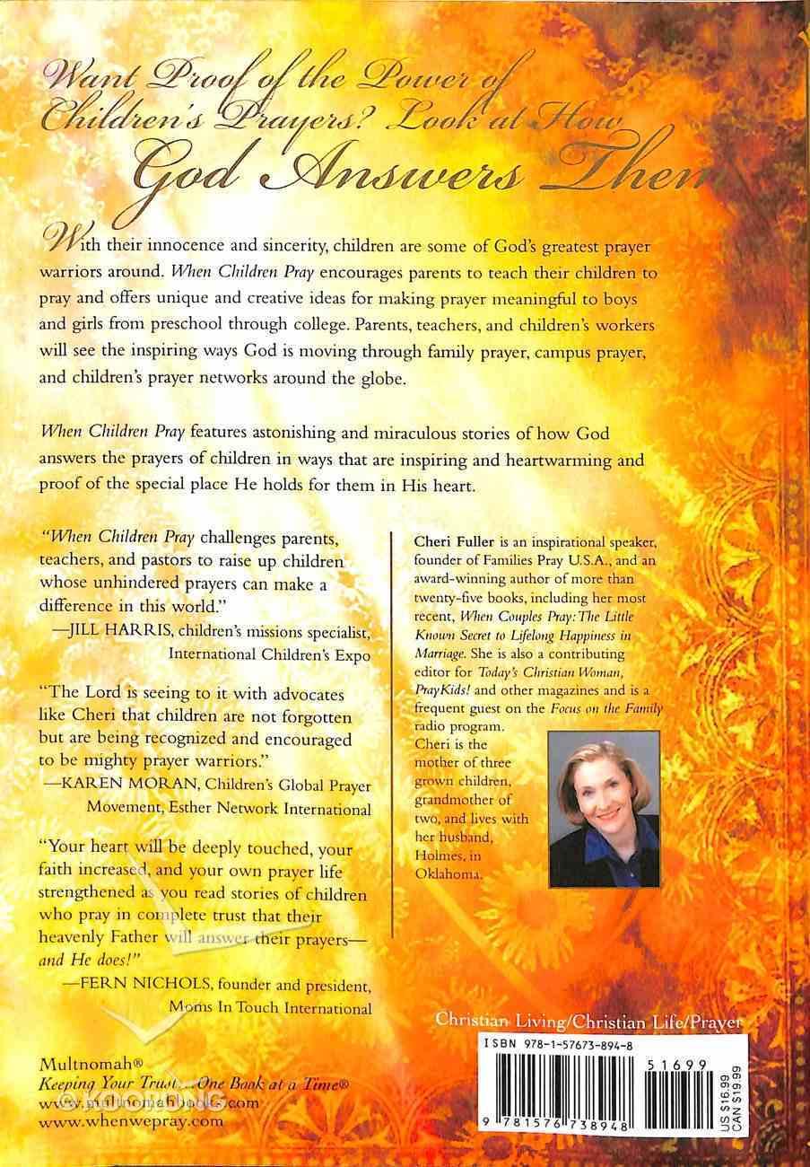 When Children Pray Paperback