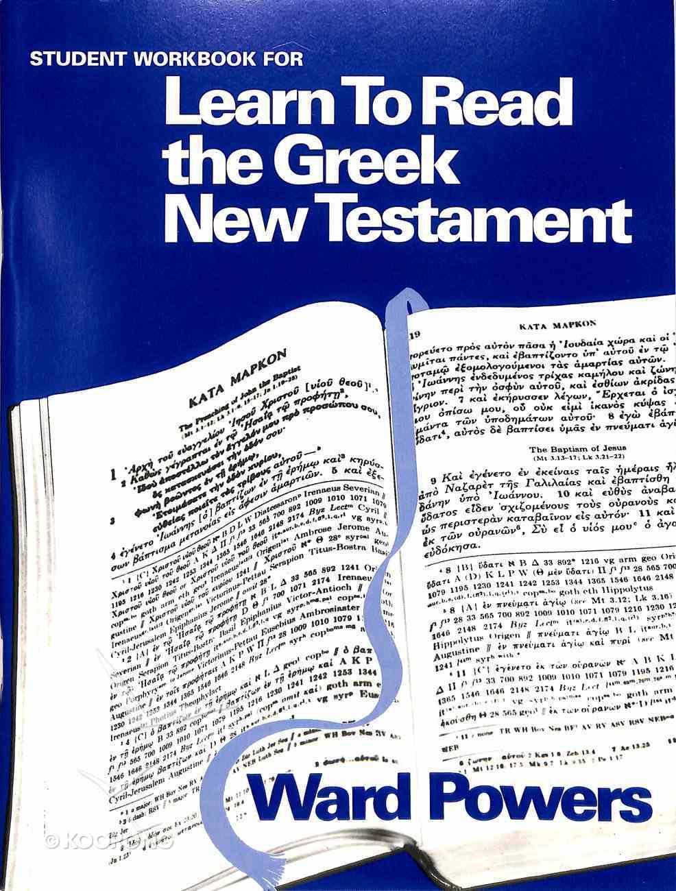 Learn to Read the Greek New Testament (Teachers Workbook) Paperback
