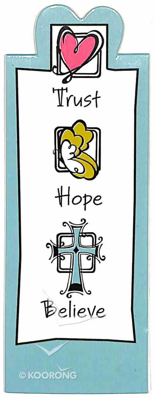 Bookmark Magnetic: Trust, Hope, Believe Stationery