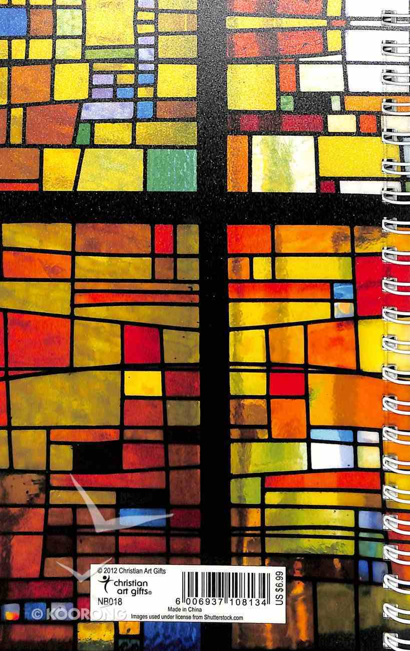 Frosted Spiral Bound Notebook: Stained Glass Window With Cross Spiral