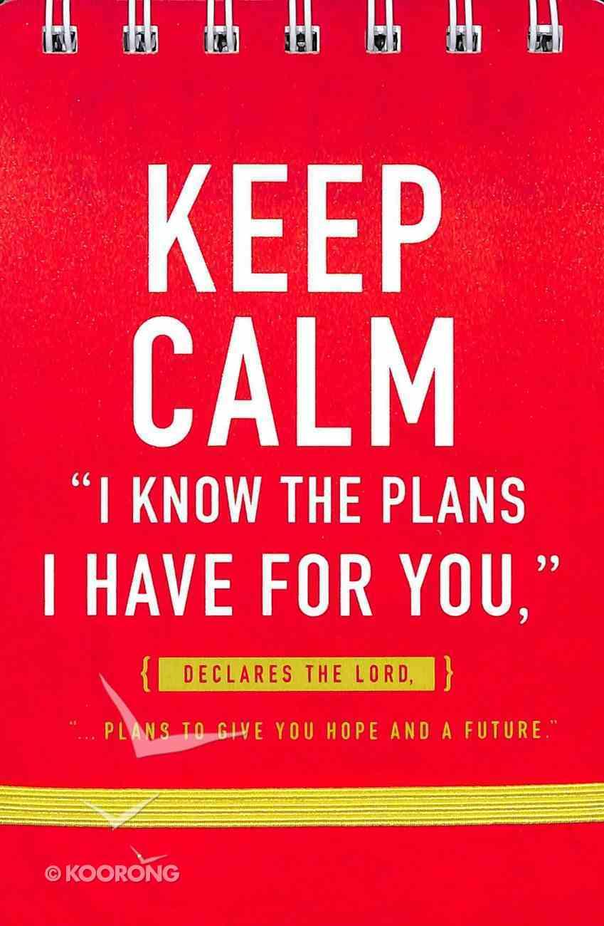 Notepad: Keep Calm, Red Spiral