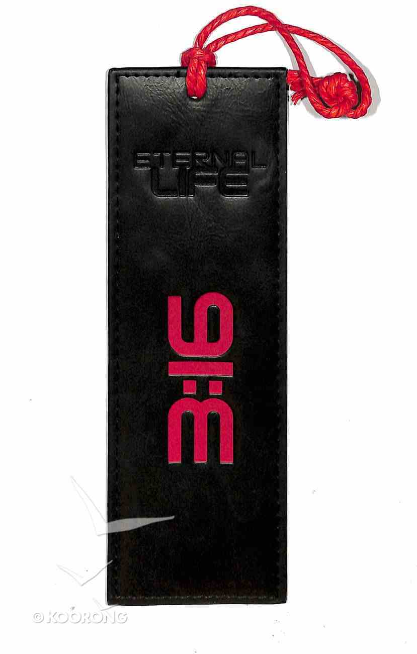 Bookmark Luxleather Tassel: Eternal Life, Black/Orange Stationery