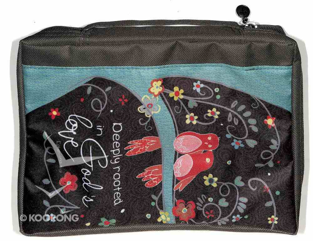 Bible Cover Value Medium: God's Love Eph. 3:17 Poly Canvas Bible Cover
