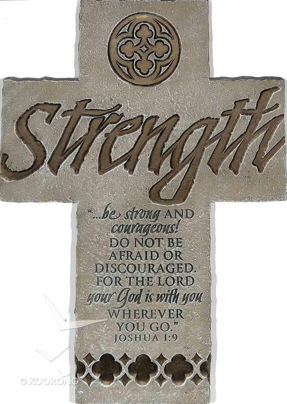 Wall Cross: Strength (25cm X 18cm) Plaque