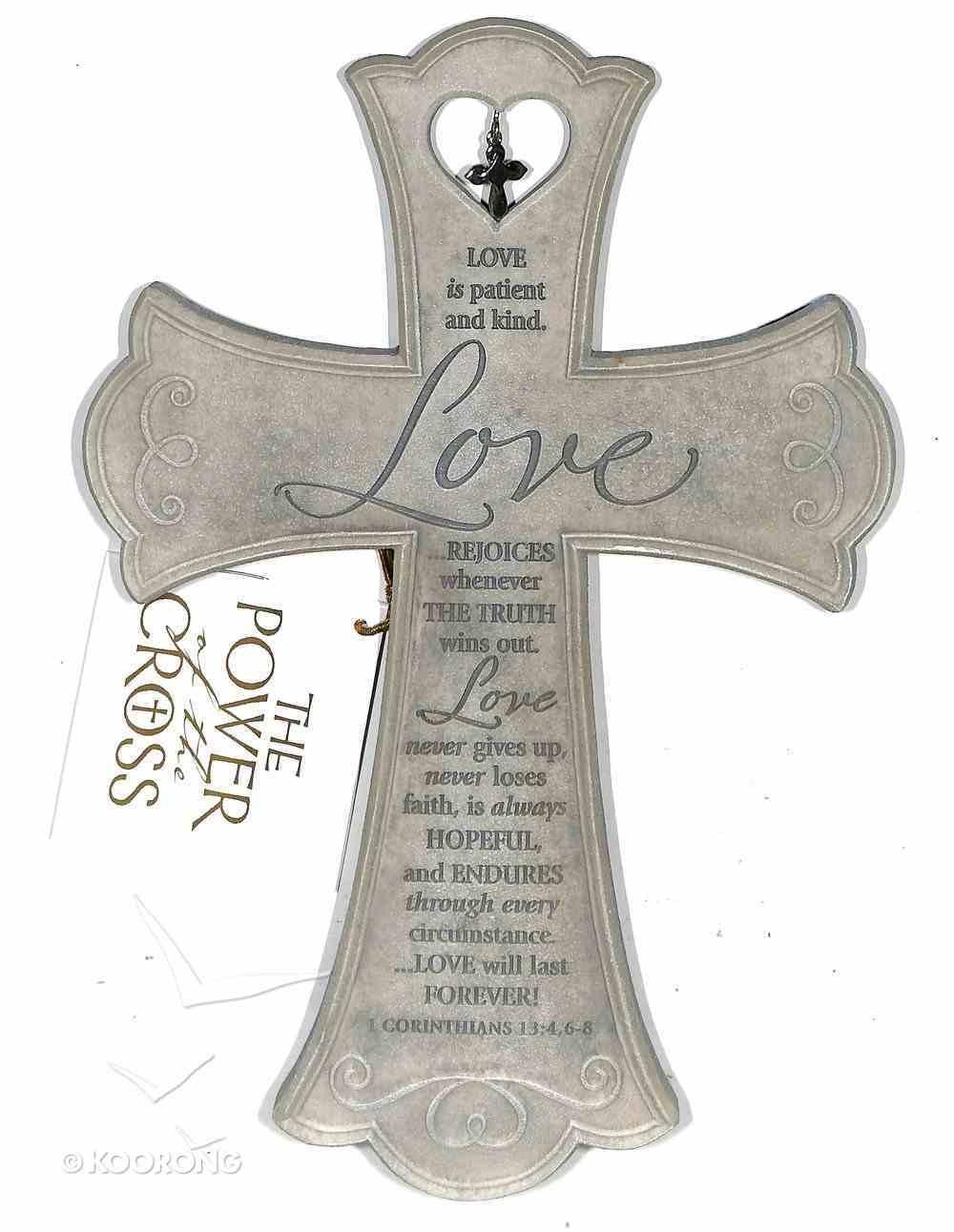 Wall Cross: Love is (26cm X 18cm) Plaque