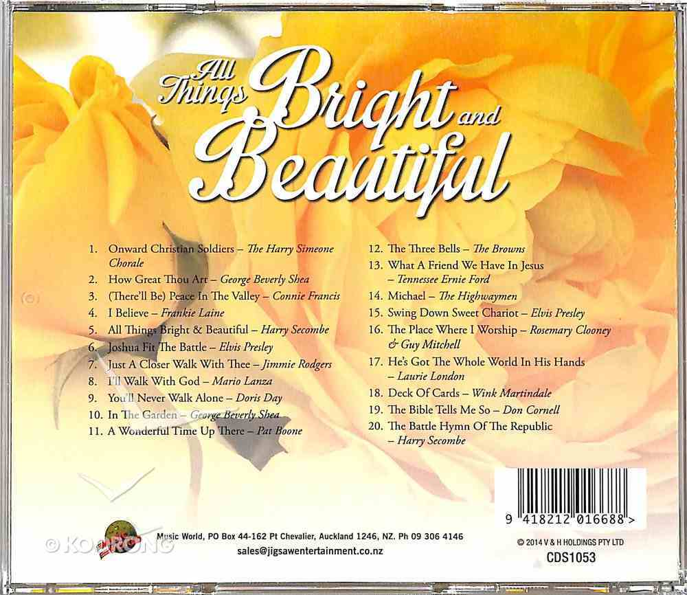 All Things Bright and Beautiful CD