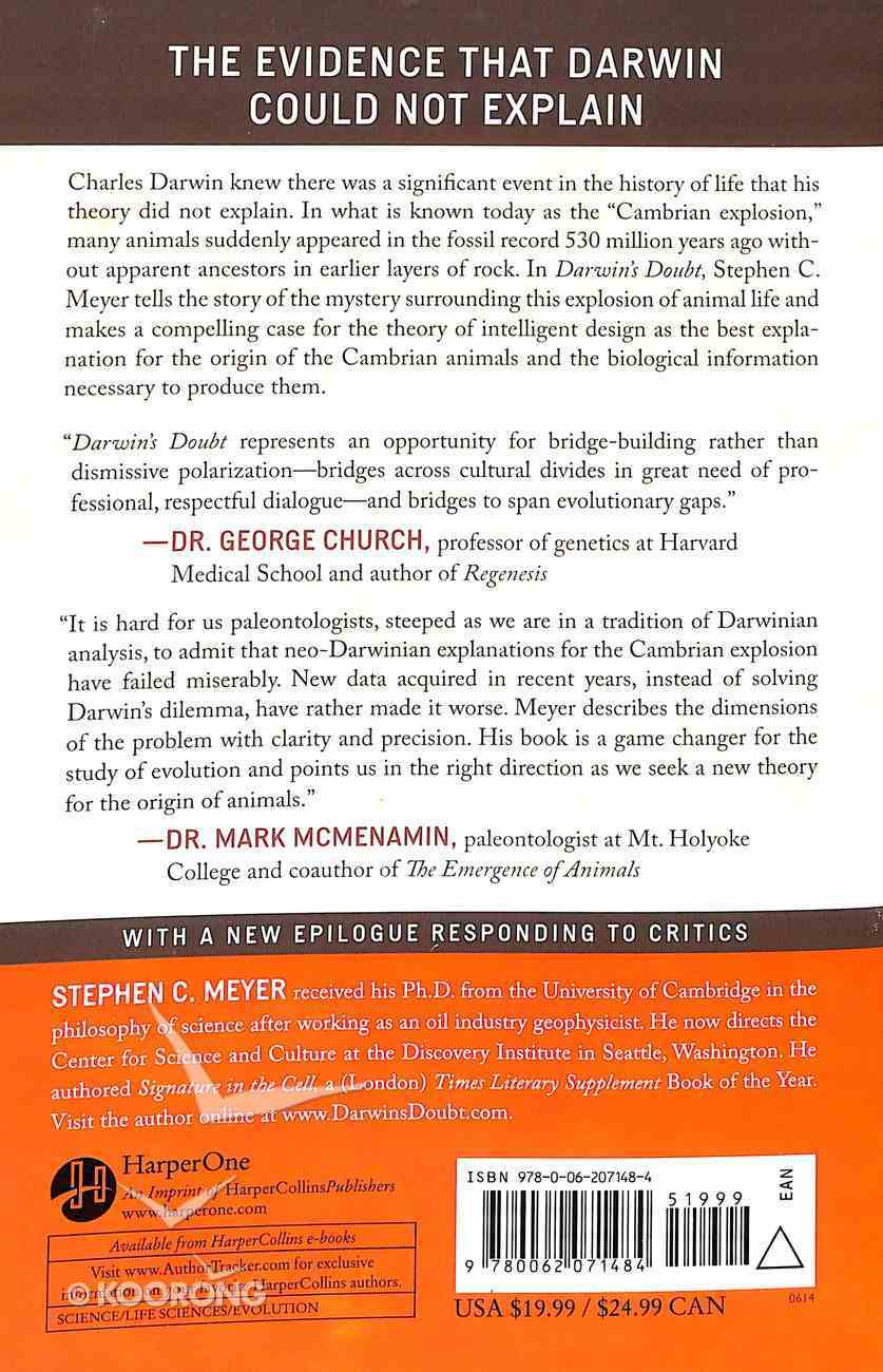Darwin's Doubt: The Explosive Origin of Animal Life and the Case For Intelligent Design (2014 Edition) Paperback