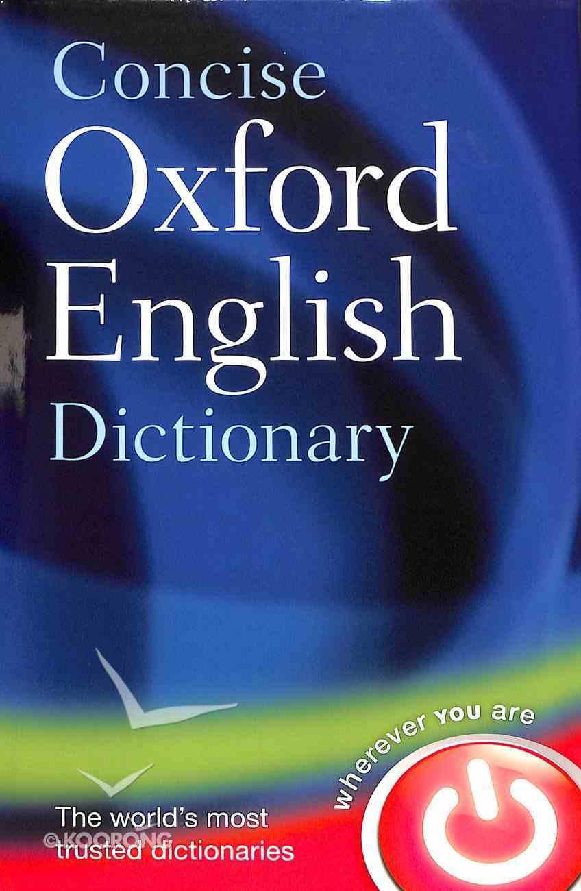 Concise Oxford English Dictionary Hardback
