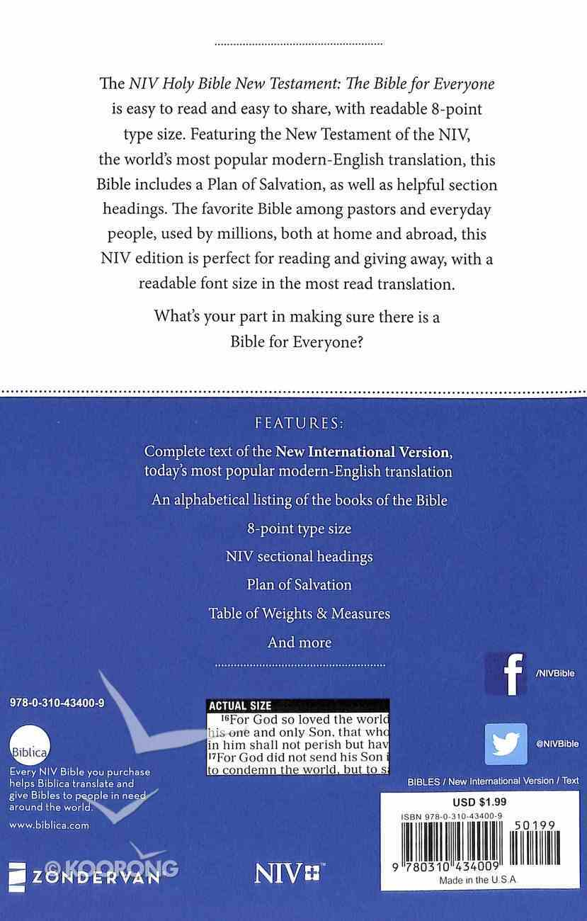 NIV Economy Outreach New Testament Paperback