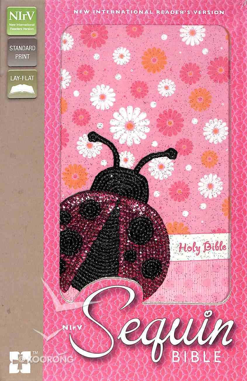 NIRV Sequin Bible Pink Lady Beetle (Black Letter Edition) Flexi Back
