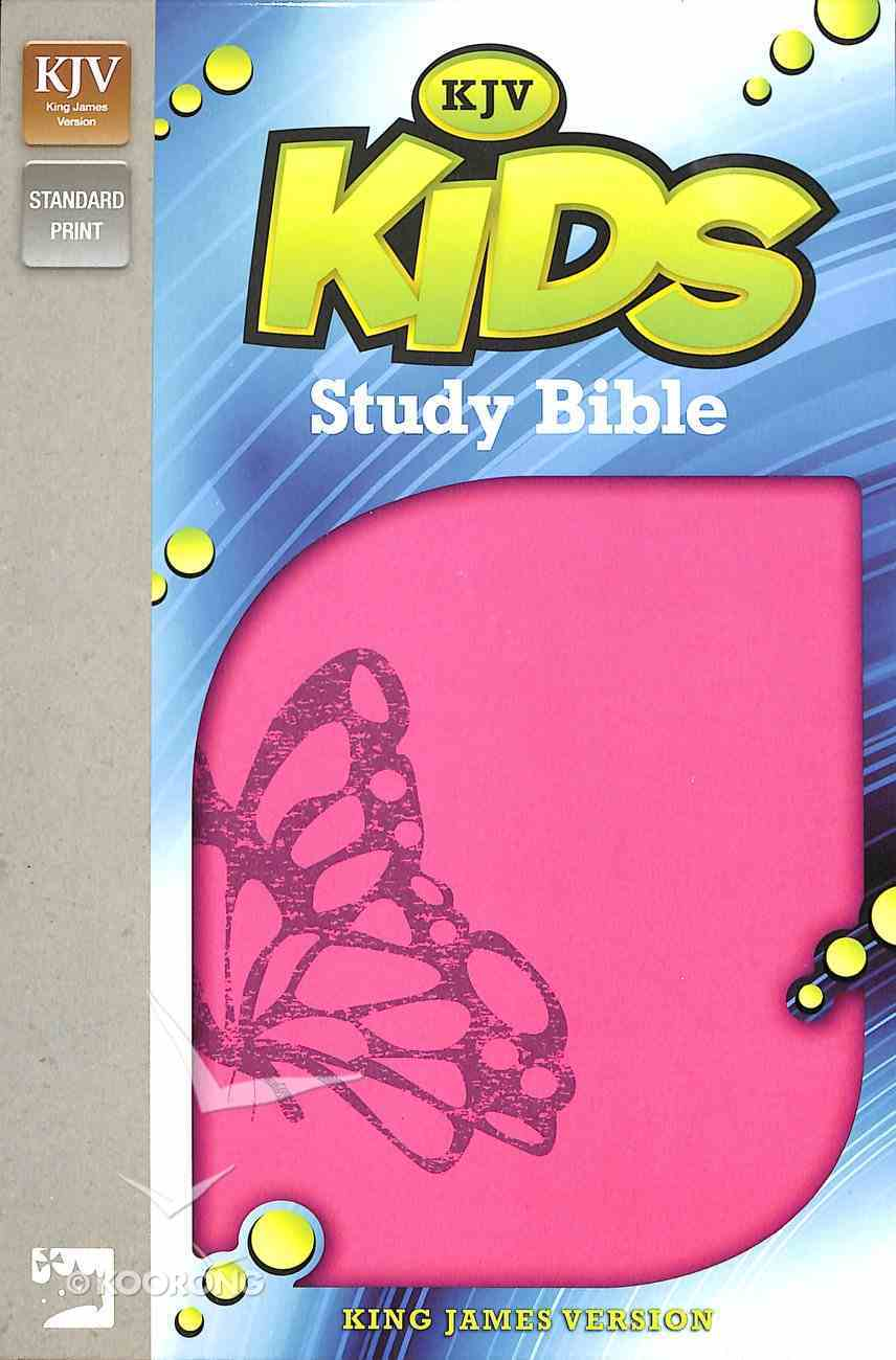KJV Kids' Study Bible Fuchsia Butterfly (Black Letter Edition) Premium Imitation Leather
