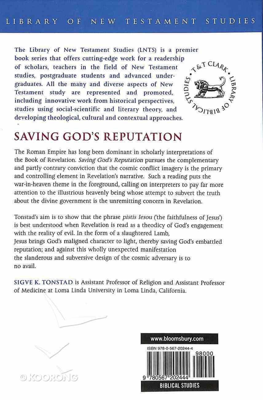 Saving God's Reputation (Library Of New Testament Studies Series) Paperback
