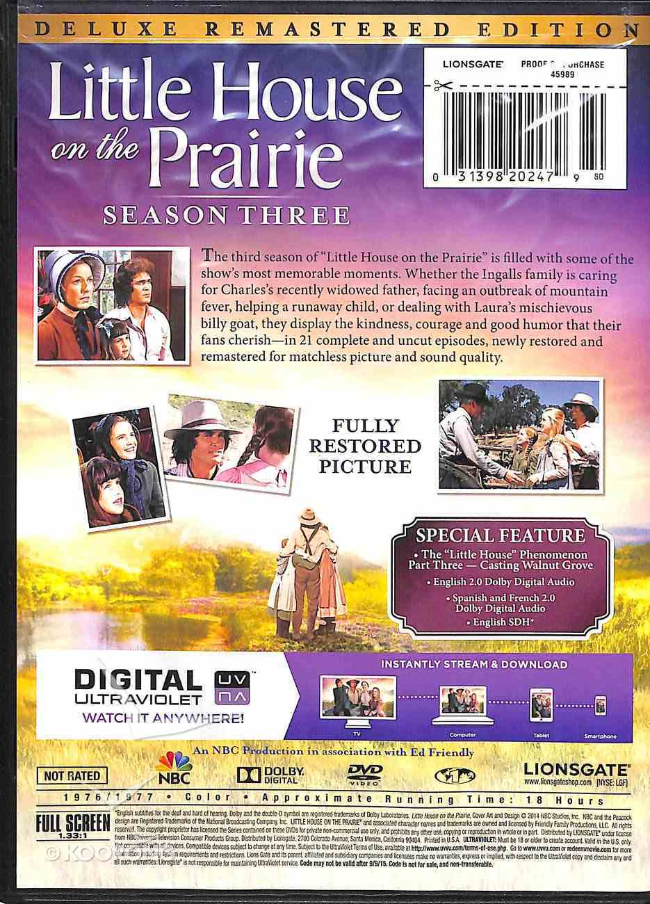 Season 3 (Deluxe Remastered Edition) (#03 in Little House On The Prairie Series) DVD