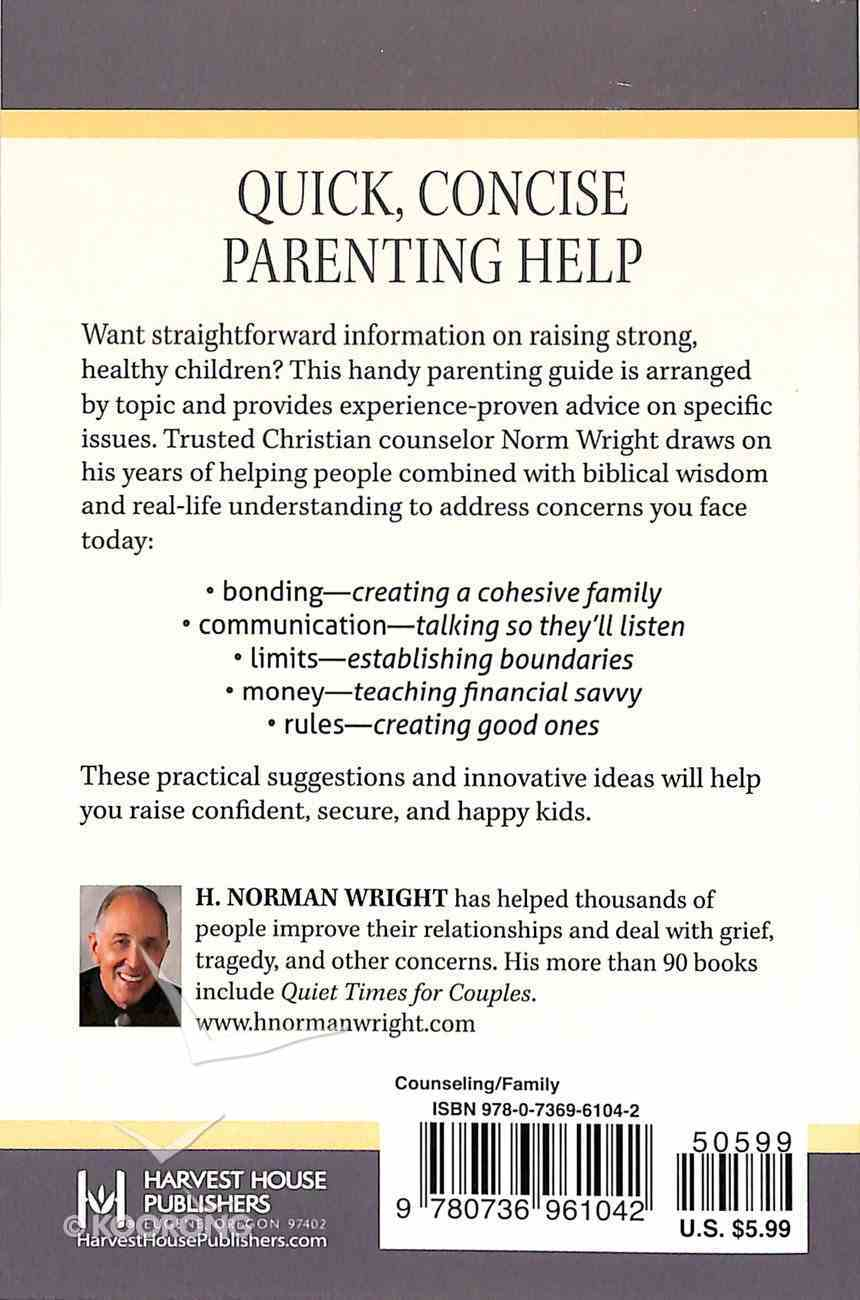 The One-Minute Counselor For Parents Paperback