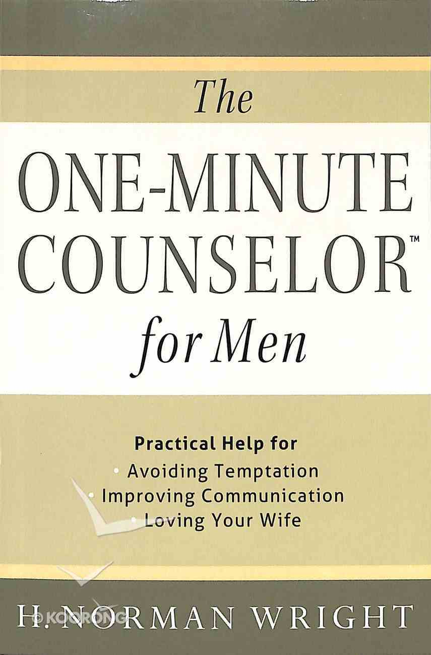 The One-Minute Counselor For Men Paperback