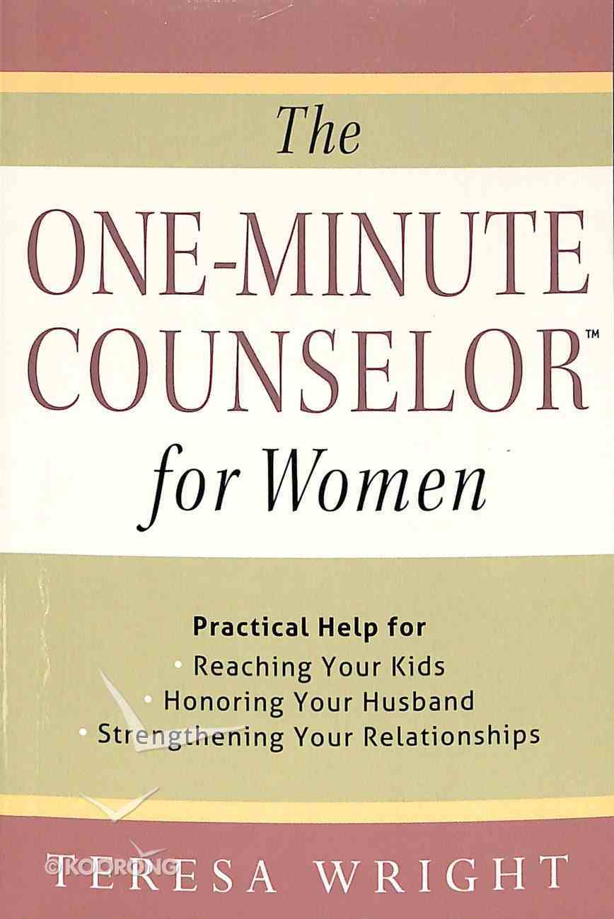 The One-Minute Counselor For Women Paperback