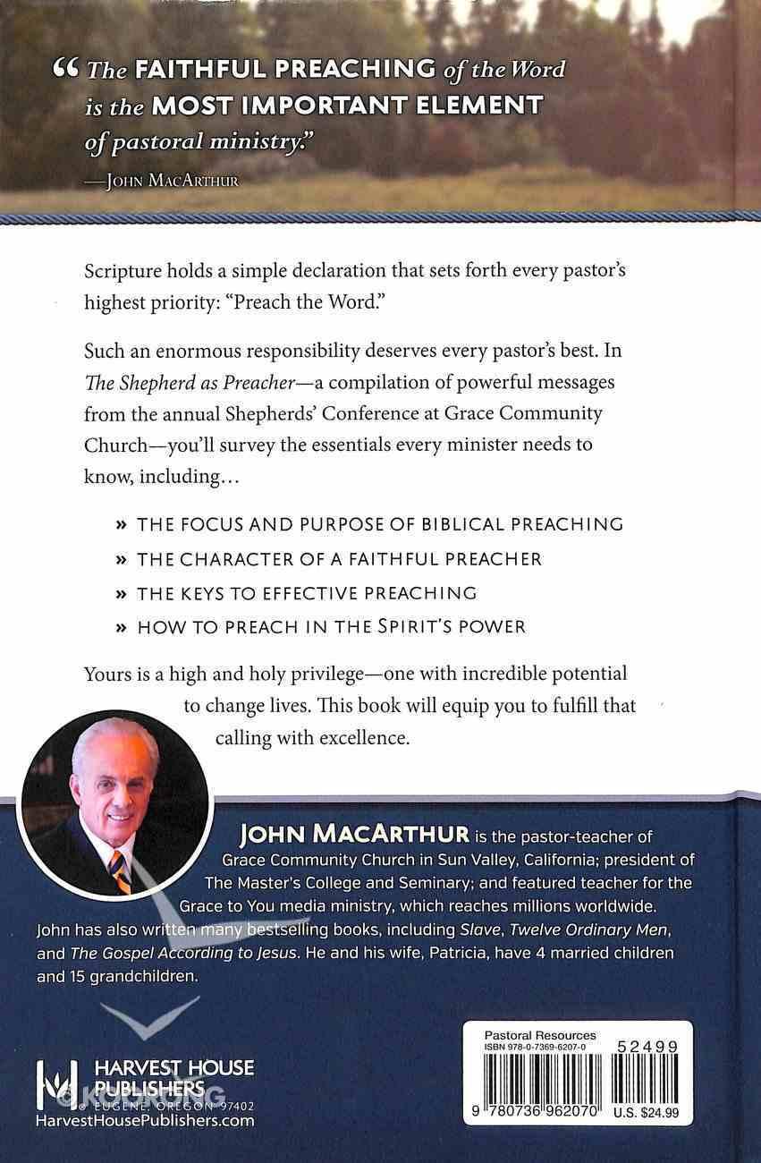 The Shepherd as Preacher Hardback