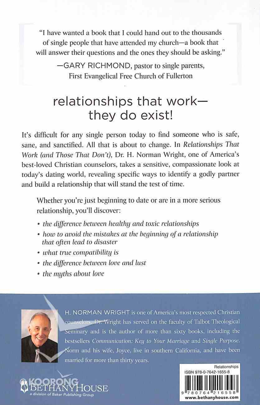 Relationships That Work and Those That Don't Paperback
