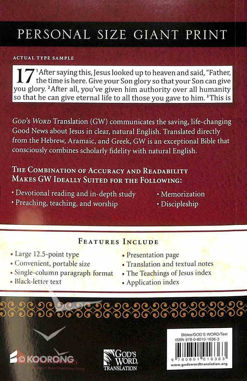 God's Word Personal Size Giant Print Paperback