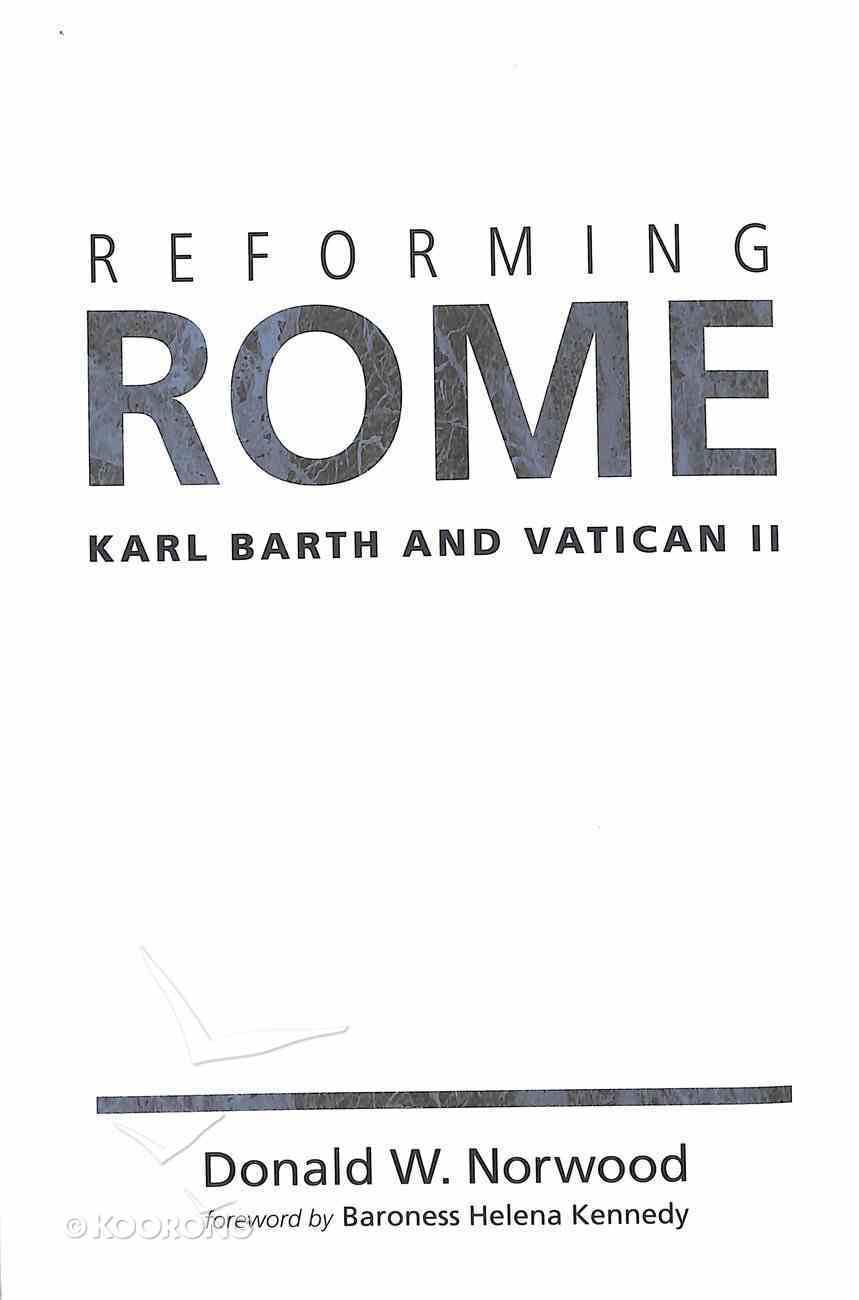 Reforming Rome Paperback