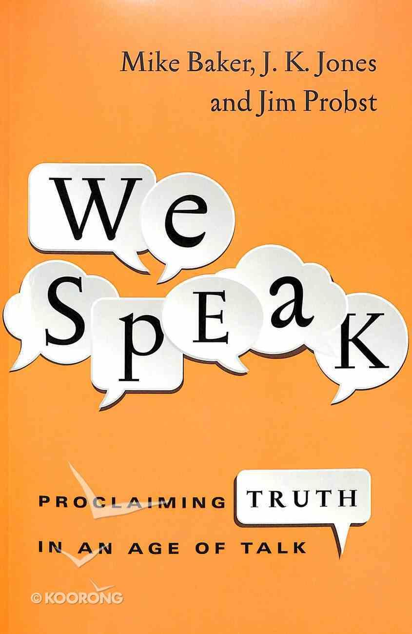 We Speak Paperback