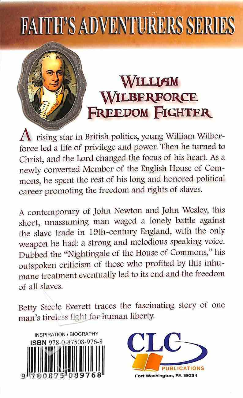 William Wilberforce: Freedom Fighter Paperback