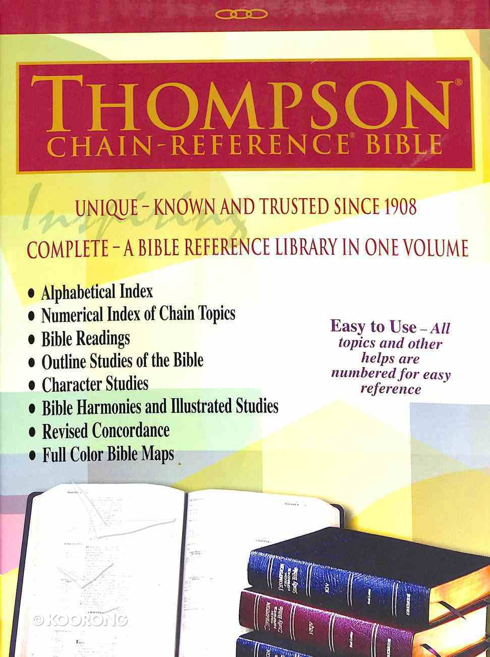 KJV Thompson-Chain Reference Bible Burgundy Indexed (Red Letter Edition) Bonded Leather