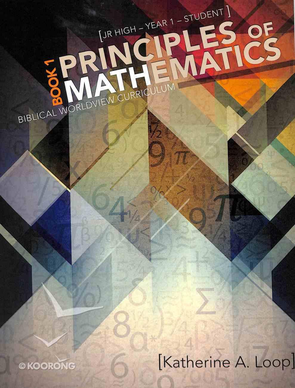Principles of Mathematics (Student) (Book1) Paperback