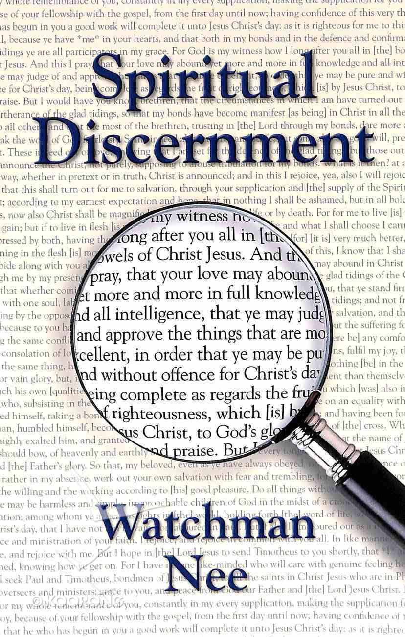 Spiritual Discernment Paperback