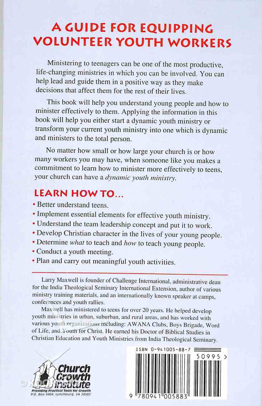 Becoming a Dynamic Youth Leader Paperback