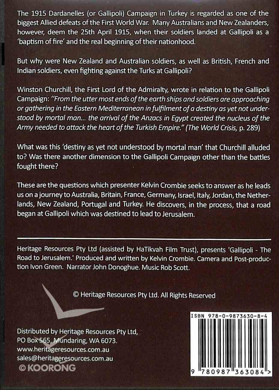 Gallipoli - the Road to Jerusalem DVD