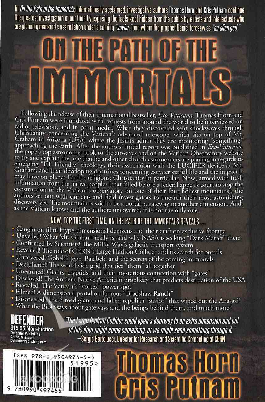 On the Path of the Immortals Paperback