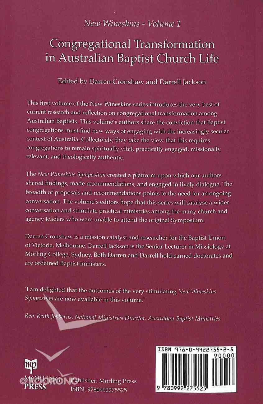 Congregational Transformation in Australian Baptist Church Life Paperback