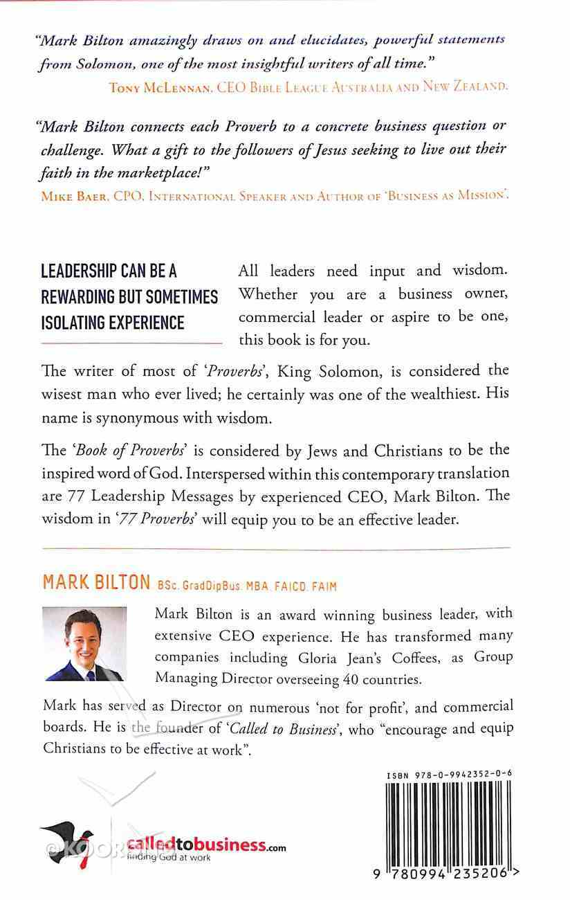 77 Proverbs For Leaders Paperback
