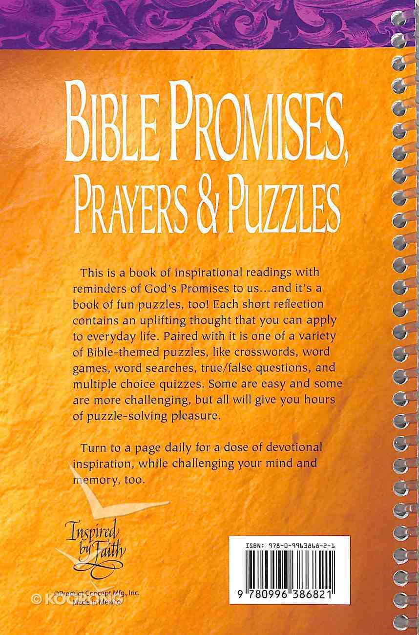 Bible Promises, Prayers and Puzzles Spiral