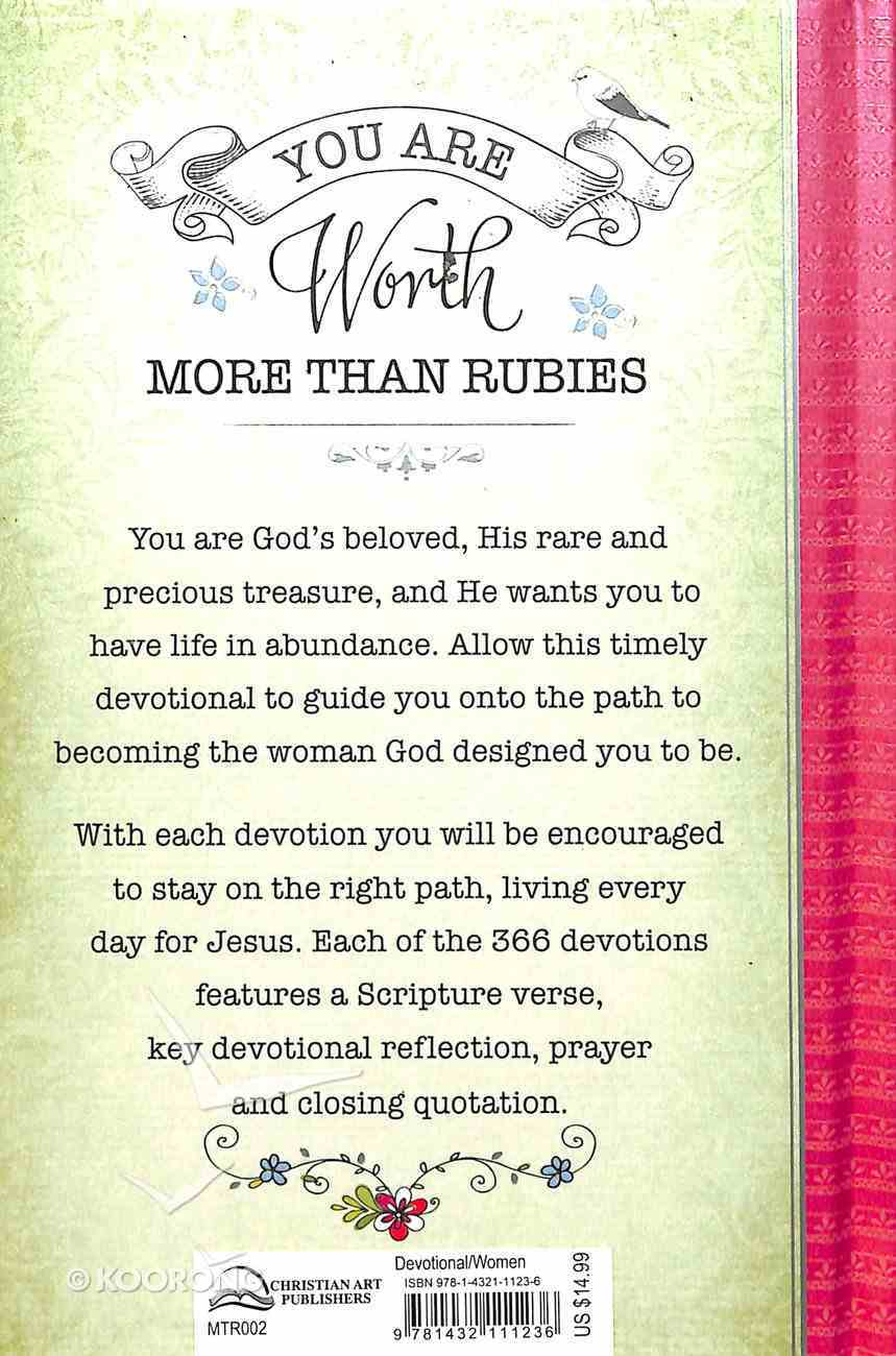 366 Devotions: You Are Worth More Than Rubies Hardback