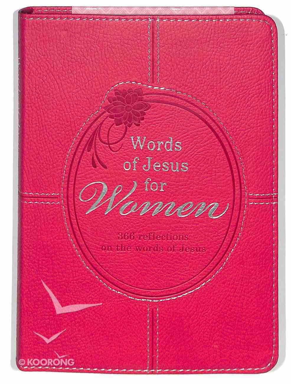366 Devotions: Words of Jesus For Women Imitation Leather