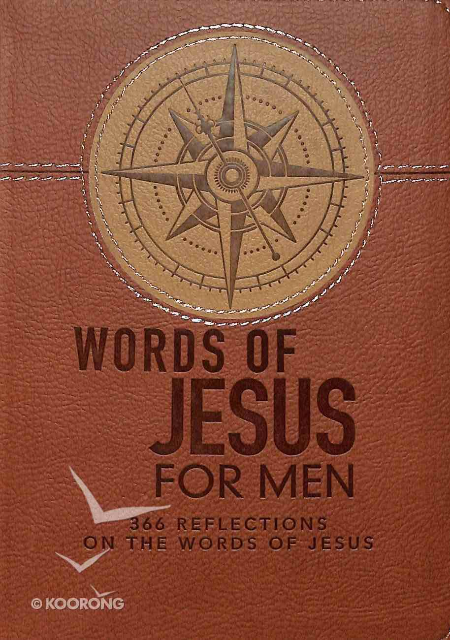 366 Devotions: Words of Jesus For Men (Tan) Imitation Leather