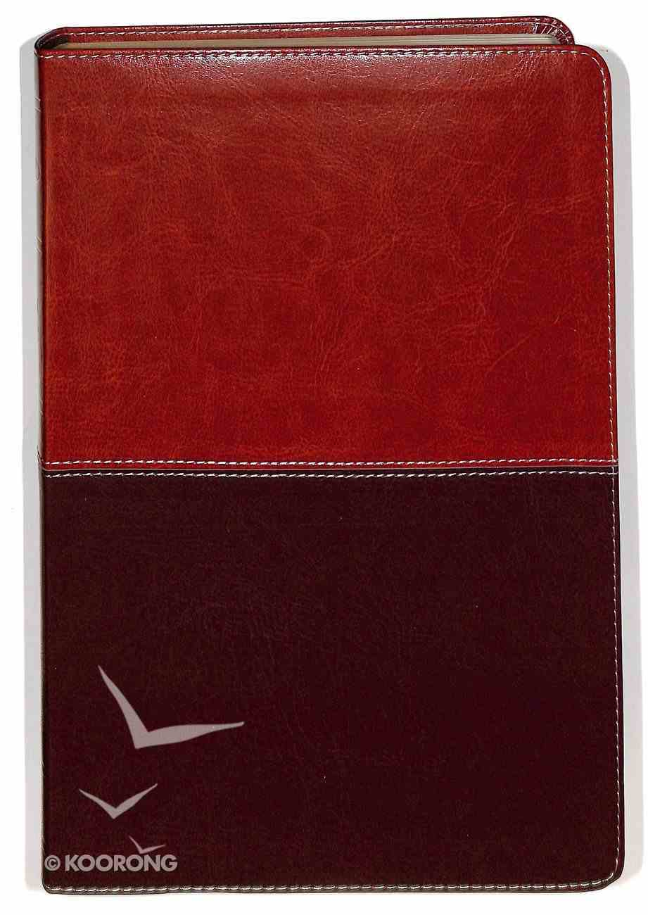 NKJV Giant Print Reference Indexed Bible, Brown/Tan Leathertouch Premium Imitation Leather