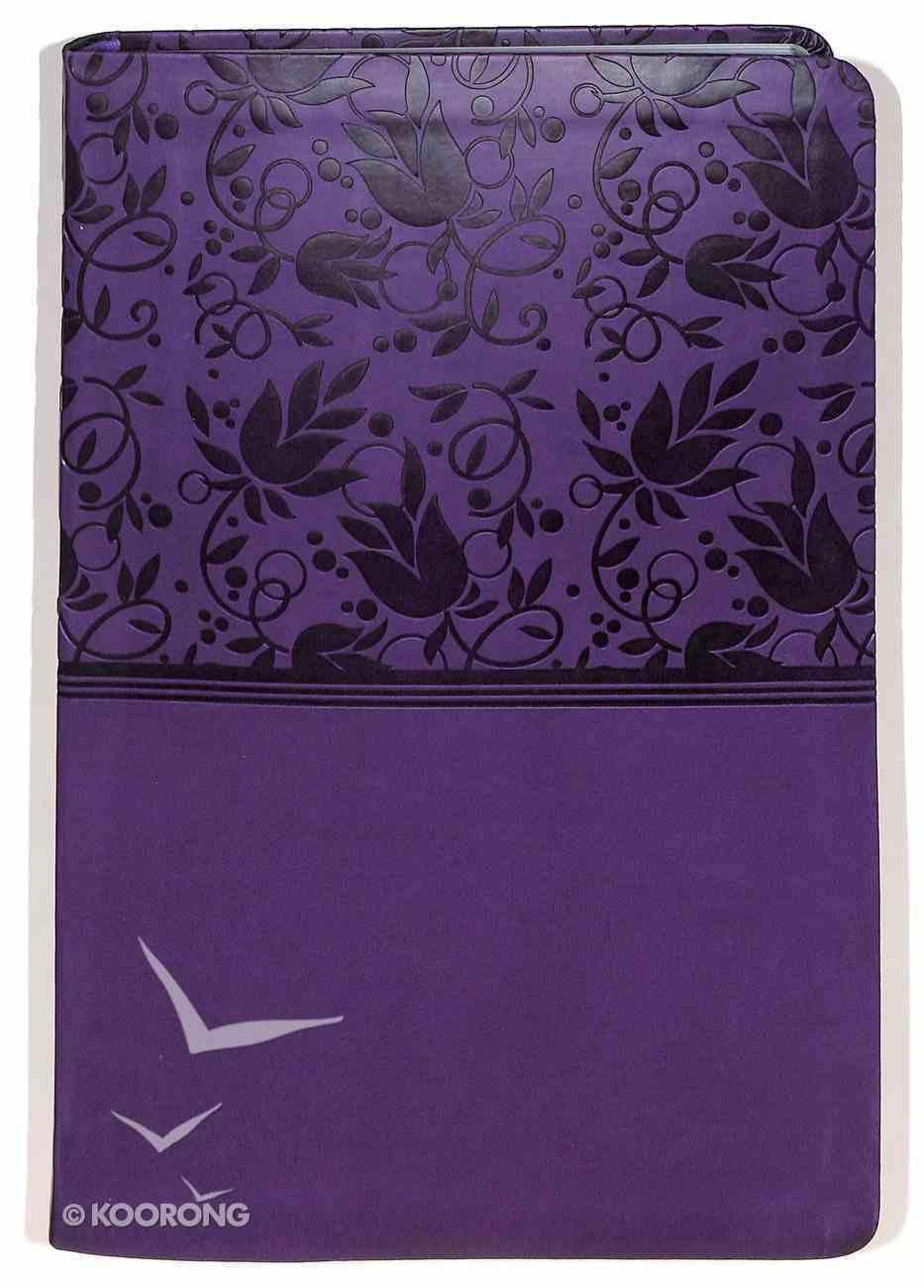 NKJV Giant Print Reference Indexed Bible Purple Premium Imitation Leather