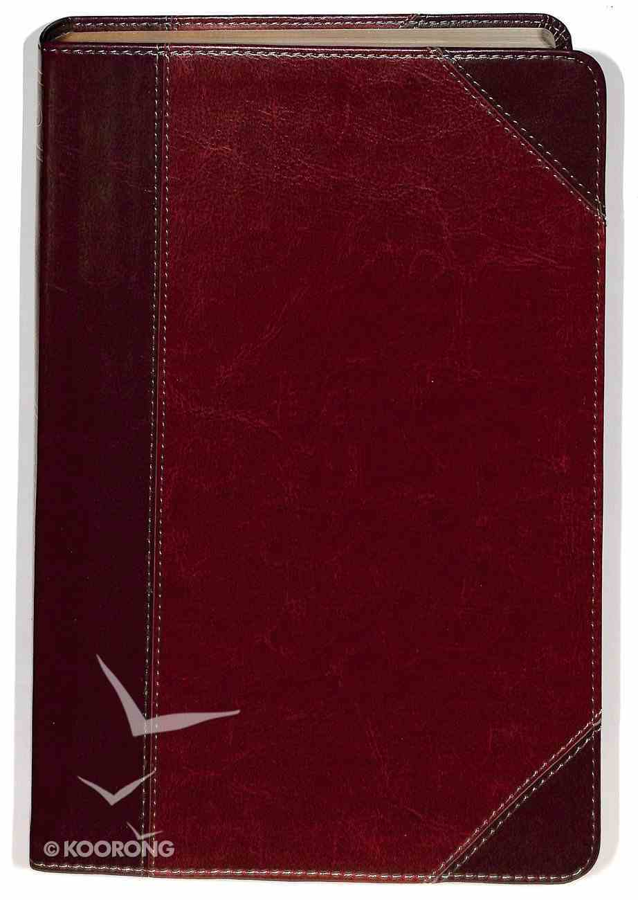 NKJV Giant Print Reference Indexed Bible, Classic Mahogany Leathertouch Premium Imitation Leather