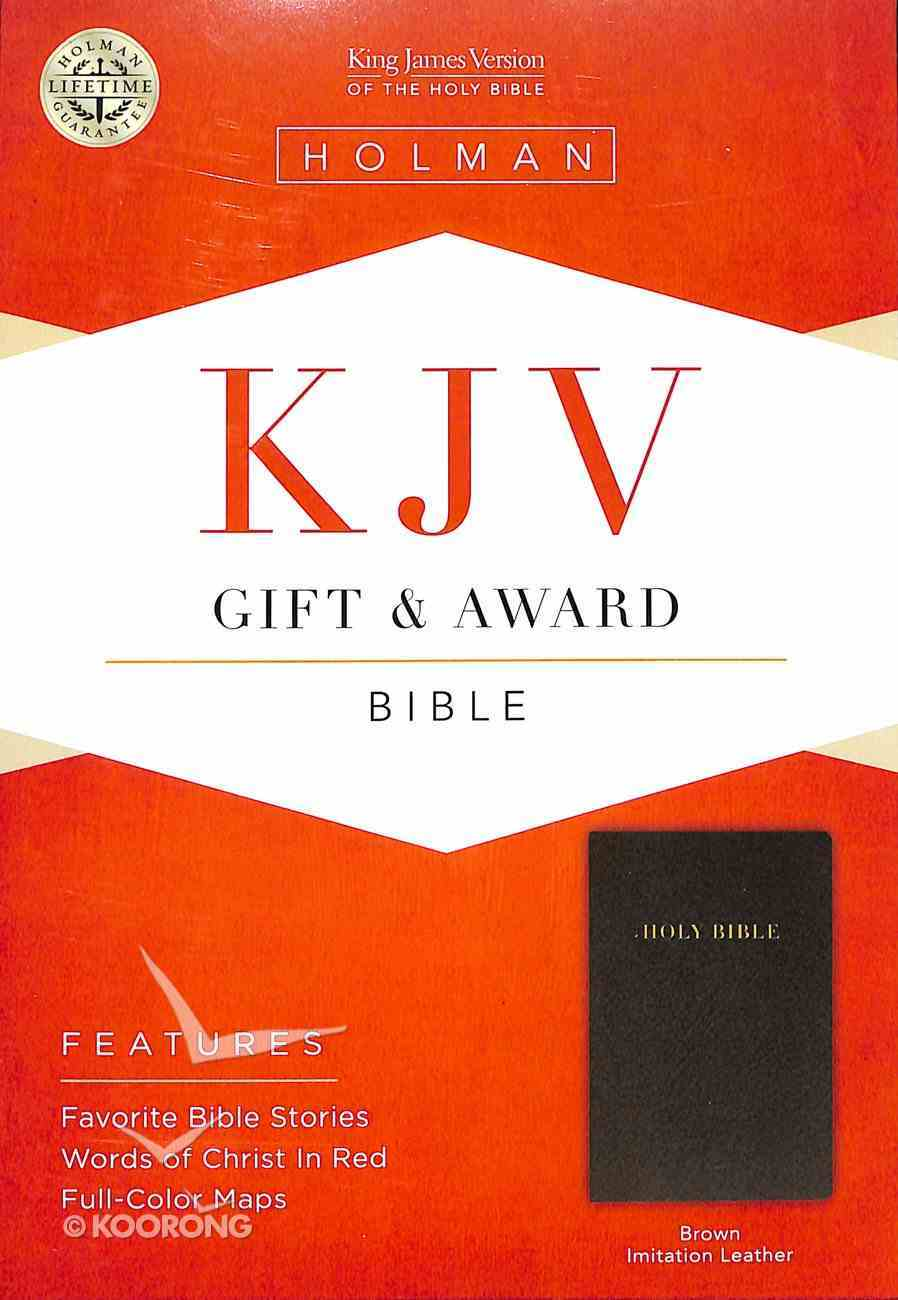 KJV Gift Award Bible Dark Brown Imitation Leather