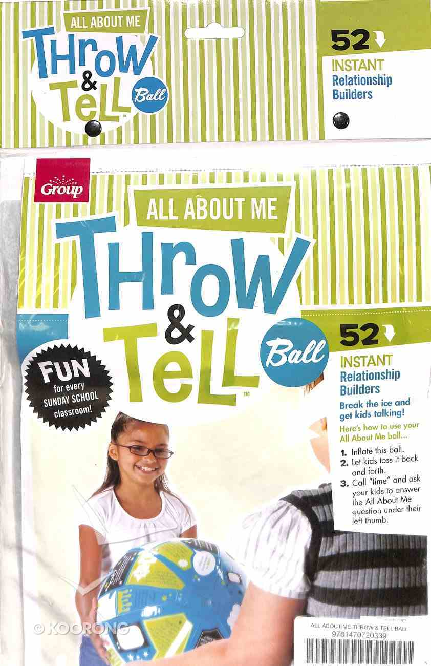 Throw & Tell Ball: All About Me Novelty