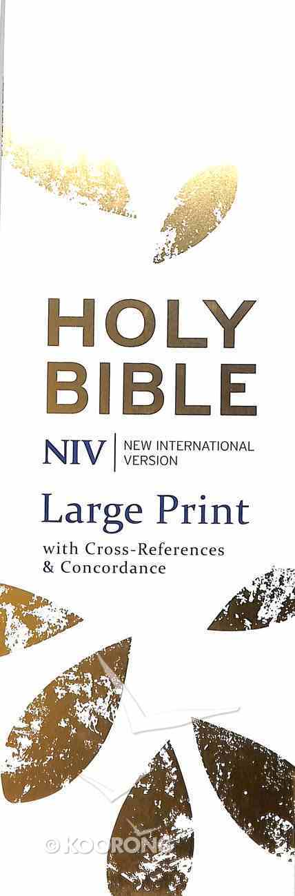 NIV Large Print Single Column Deluxe Reference Imitation Leather