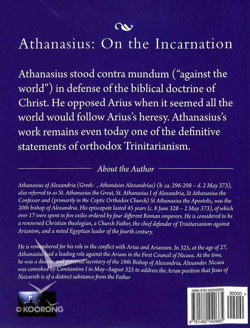 Athanasius: On the Incarnation Paperback