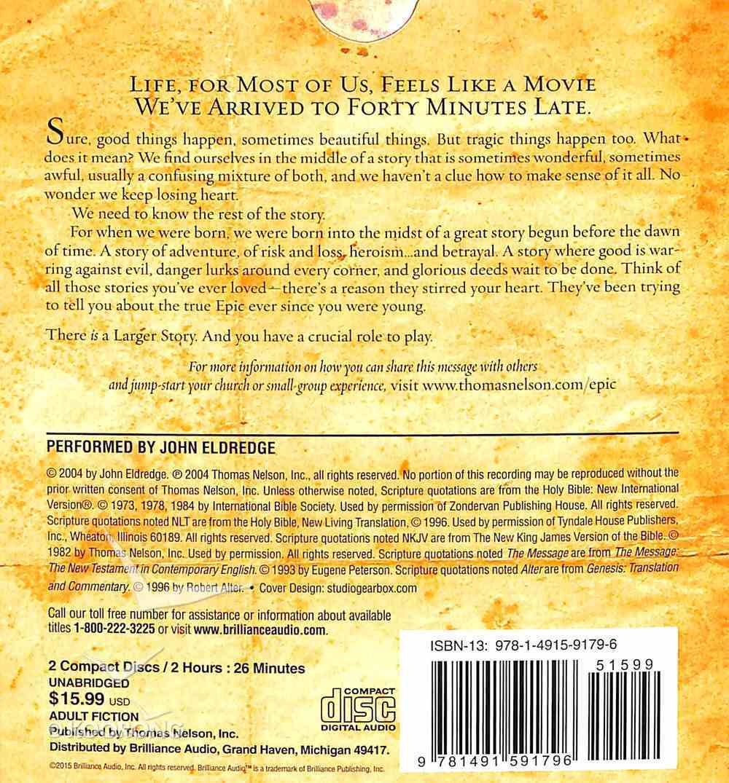 Epic (Unabridged, 2 Cds) CD